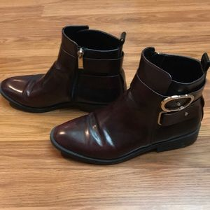 ZARA trf Leather Boots